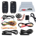 Touch password entry PKE car alarm system with push button start, car finding and remote engine start DC12V