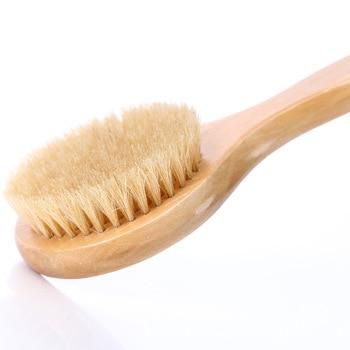 Natural Bristle Brush Anti-slip Handle Wooden Body Back Maasage Health Care Bath back Brush for Bath Body Foot Brush 3
