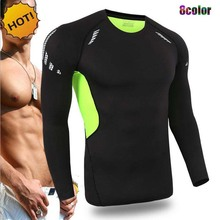 NEW Crossfit Outdoors Fitness Joggers Player Base Layer Men Long Sleeve SKinny Sweat traning Quick Dry