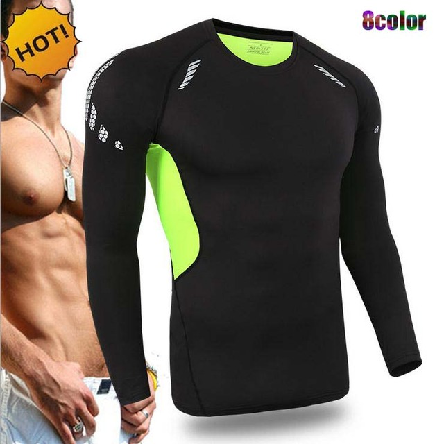 NEW Crossfit Outdoors Fitness Joggers Player Base Layer Men Long Sleeve SKinny Sweat traning Quick Dry T Shirt 9Color