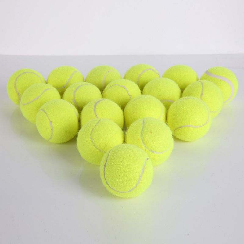 Tennis Training Tool+ Exercise Tennis Ball Rebound Ball With Tennis Trainer Baseboard 18 Pieces