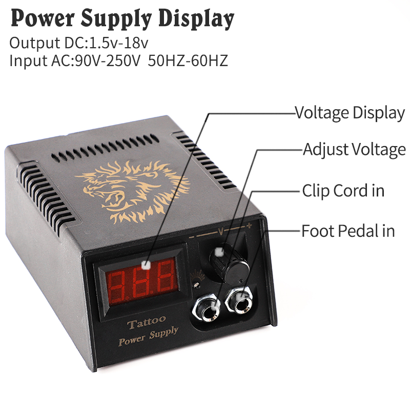 Professional Digital LCD Tattoo Power Supply High Quality Tattoo Power Supply For Tattoo Machine Free Shipping Liner Shader