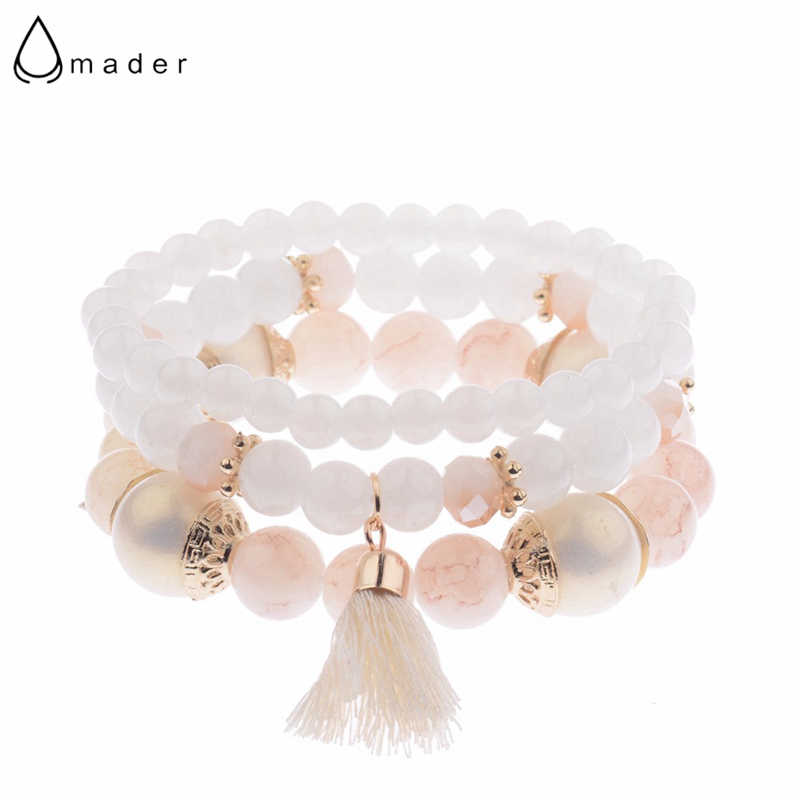 Amader 2019 Spring Summer Fashion Women's Bracelet Set 3Pcs/Lot High Quality Charm Beads Bracelet Jewelry For Ladies HXB002