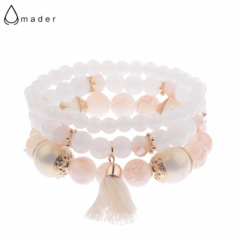 2020 Spring Summer Fashion Women's Bracelet Set 3Pcs/Lot High Quality Charm Beads Bracelet Jewelry For Ladies HXB002(China)