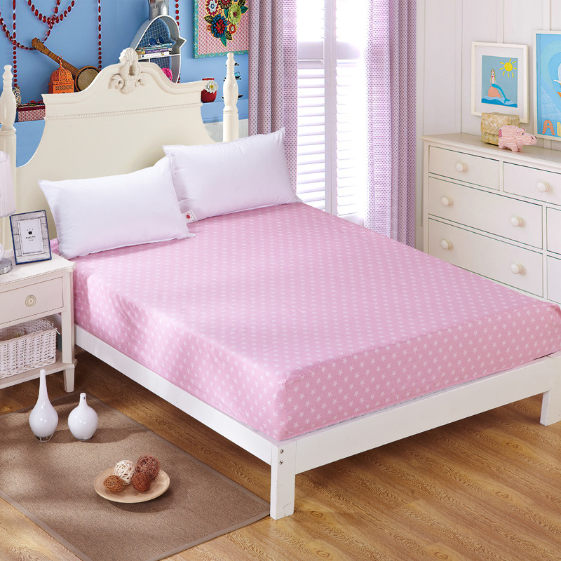 1pc 100 cotton fitted sheet mattress cover printing bedding cotton bed sheets with elastic band. Black Bedroom Furniture Sets. Home Design Ideas