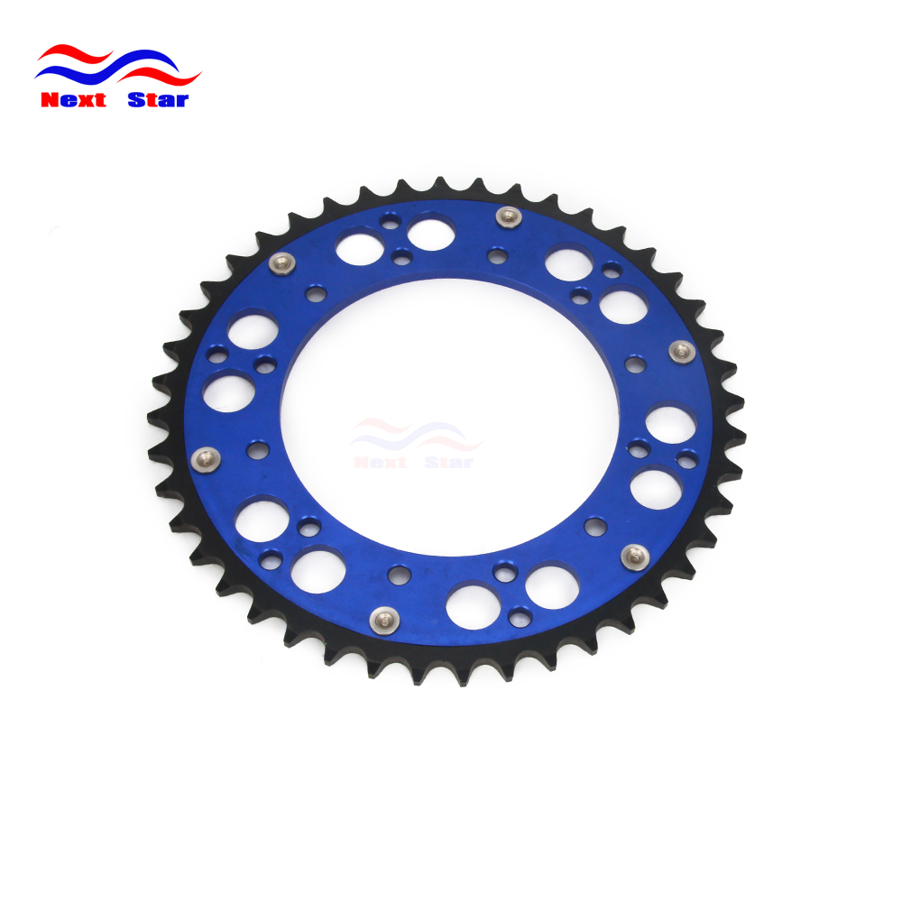 Motorcycle Rear Chain Sprocket For YAMAHA YZ TT-R WR 125 250 426 450 125L 125M 125T 250F-N 230T 230V 426M 426N 450V 450F 450Z цена