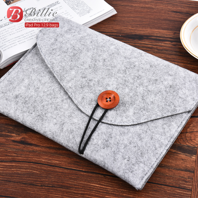 Woolen Felt Sleeve Bag Case Pouch Tablet Cover For Apple iPad Pro 12.9 Sleeve Pouch Bag Laptop Bag Anti-scratch Shockproof 032 print batman laptop sleeve 7 9 tablet case 7 soft shockproof tablet cover notebook bag for ipad mini 4 case tb 23156