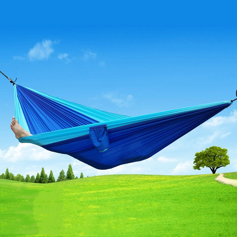 8 Color 2 People Portable Parachute Hammock Camping Survival Garden Flyknit Hunting Leisure Hamac Travel Double Person Hamak double people hammock camping survival garden hunting swing leisure travel double person portable parachute outdoor furniture