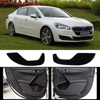Brand New 1 Set Inside Door Anti Scratch Protection Cover Protective Pad For Peugeot 508 2011-15
