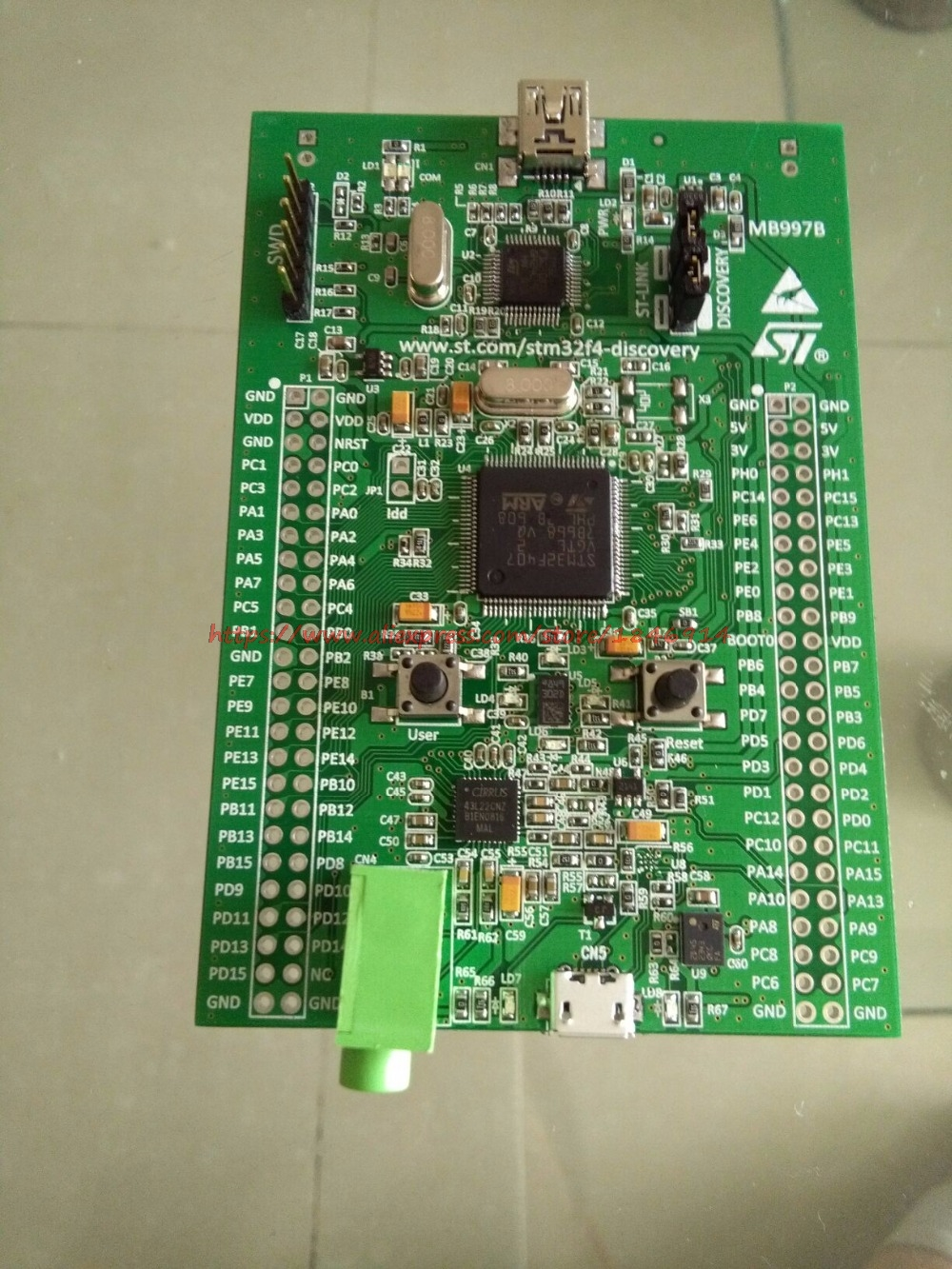 Free shipping 100% Original STM32 Discovery Board Stm32f4discovery Stm32f4 kit Cortex-m4 STM32 Development Board St-link v2