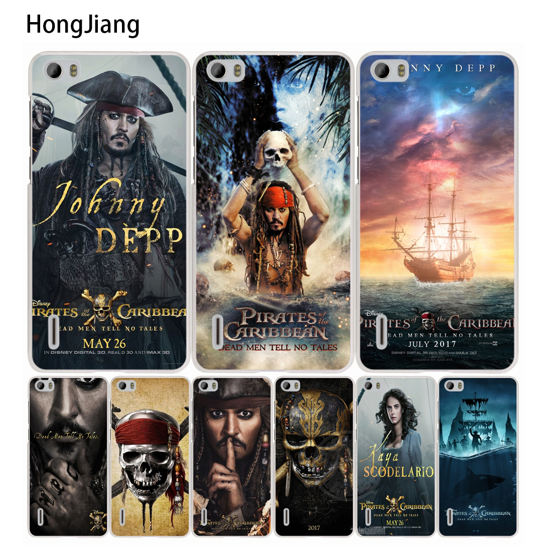 HongJiang Pirates of the Caribbean 5 Coque <font><b>cell</b></font> <font><b>phone</b></font> Cover Case for <font><b>huawei</b></font> honor 3C 4A 4X 4C 5X 6 7 8 <font><b>Y6</b></font> Y5 2 II Y560