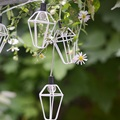 10LED Mini Linternas LED Luz de la Secuencia de Vacaciones Decoraciones para el Hogar de Navidad Año Nuevo Festival de Hadas de la Boda Linterna de Hierro Cadenas