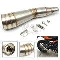 Universal de la motocicleta tubo de escape accesorios para kawasaki z750 z800 z1000 er6n versys ninja 300 650