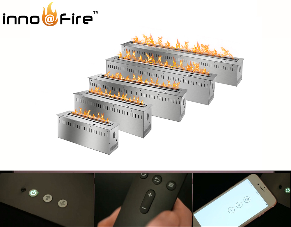 On Sale 30  Inch Remote Control Intelligent Black Etanol Electric Fireplace