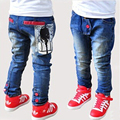 Big Children Jeans Famous 2015 Winter Style Blue Skinny Pants 5 Size Print brand New Larger Trousers For Big Children Jeans