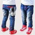 Crianças grandes Jeans famosos 2015 inverno estilo azul calças Skinny 5 tamanho de impressão nova marca maior calças para crianças grandes Jeans