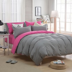 Solid bedding set sanding duvet cover double side queen full twin bed sheet cotton&polyester modern bedding bed linen No Filling