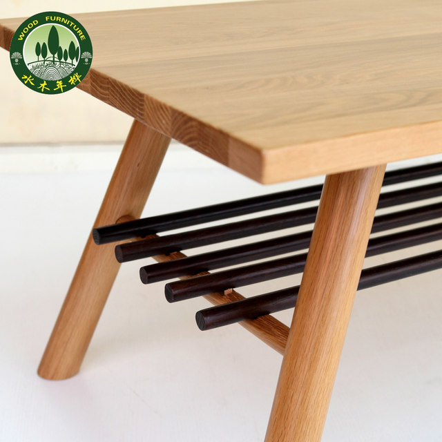 Delicieux Mizuki Japanese Style Coffee Table In Birch Wood American White Oak Living  Room Furniture Long Coffee Table With Storage Grid