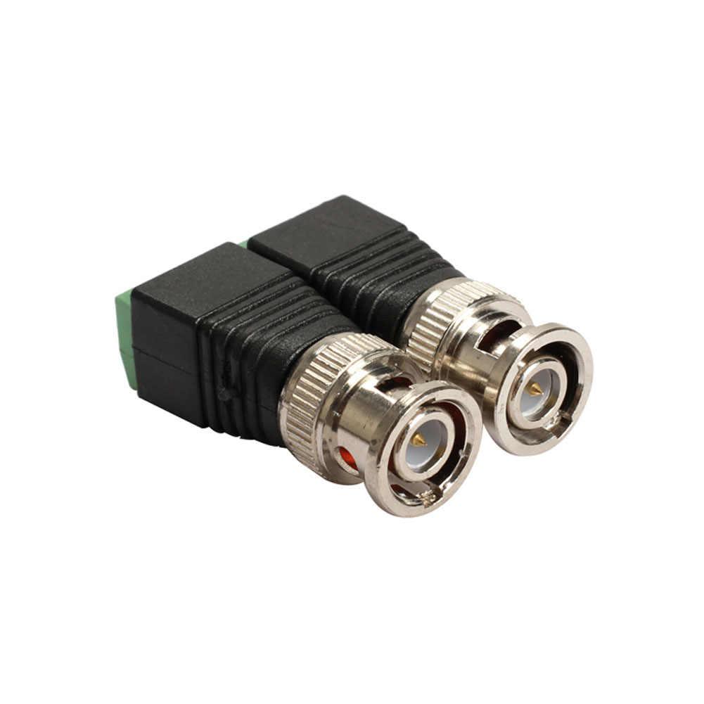 2 adet Mini koaksiyel CAT5 kamera CCTV BNC video Balun bağlayıcı adaptörü POE cctv test cihazı IP kamera İletim kabloları aksesuarları
