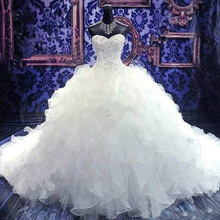 Fnoexw Royal Train Ball Gown Wedding dresses Bridal Gown