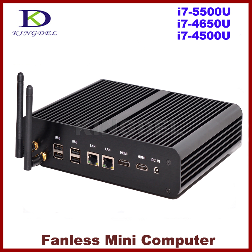 Windows Mini PC Fanless Computer Intel NUC 4th 5th Gen Haswell Broadwell Core i7 4500U i7