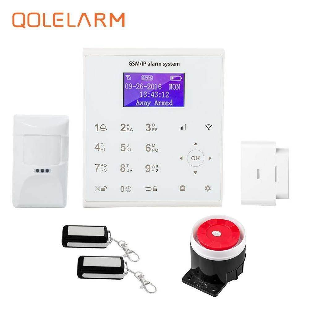 Android/IOS LCD display home automation wifi gsm alarm system 433mhz 868mhz with Wireless anti-pet infrared sensor free shipping детская игрушка new wifi ios