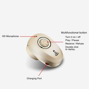 Image 2 - Invisível ultra pequeno esportes mini estéreo s650 bluetooth fone de ouvido sem fio 1earbud para esportes masculinos