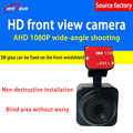 Factory wholesale forward-looking hd car camera AHD 1080P ultra clear square bracket surveillance camera PAL/NTSC system