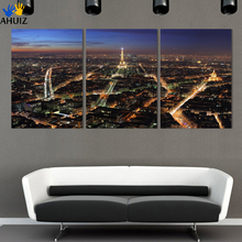 Effiel tower 3 Panels/Set Large HD Picture Canvas Modern Artwork Wall Decorative print painting On Canvas no framed