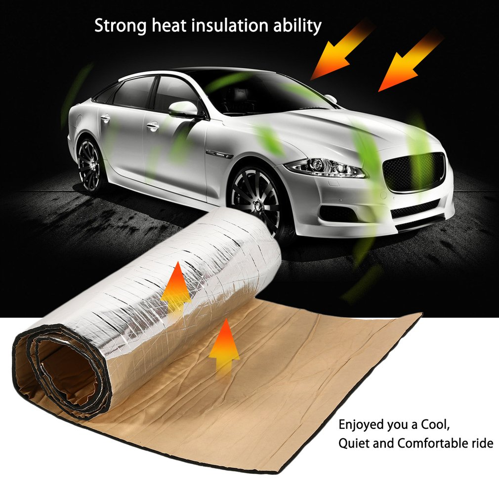 20*79inch/40*40inch/40*60inch Trunk Boot Cargo Hood Engine Firewall Heat Sound Insulation Mat Muffler Shield Hatch Back Deadener