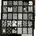 Nuevo 1 Unids 6*12 CM Clavo Que Estampa Las Placas de Acero Inoxidable de la Imagen de Konad Stamping Nail Art Manicura Plantilla DIY Herramientas del clavo 16 Diseños