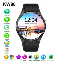 2016 Hot Sale KW88 Smart watch Android 5.1 MTK6580 CPU 1.39 inch 3G Wifi Smartwatch for Samsung Huawei Phone Watch PK GT88 KW18