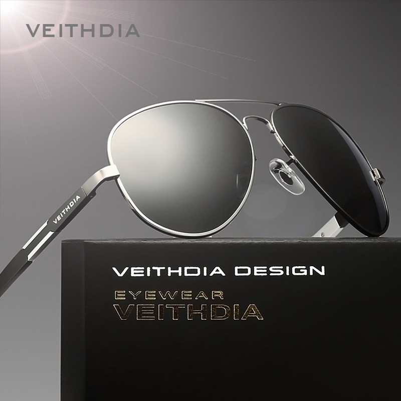 22e026c555 VEITHDIA Aluminum Magnesium Men s Sunglasses Polarized Sun Glasses Male  Classic Eyewears Accessories Men Oculos de grau 6695-in Sunglasses from  Apparel ...