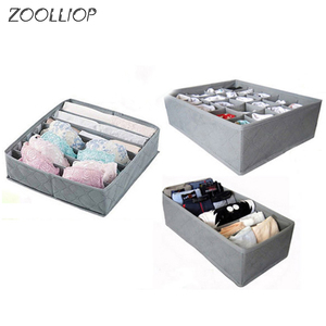 Underwear Bra Organizer Storage Box 2 Colors Drawer Closet Organizers Boxes For Underwear Scarfs Socks Bra Multi Size cloth(China)
