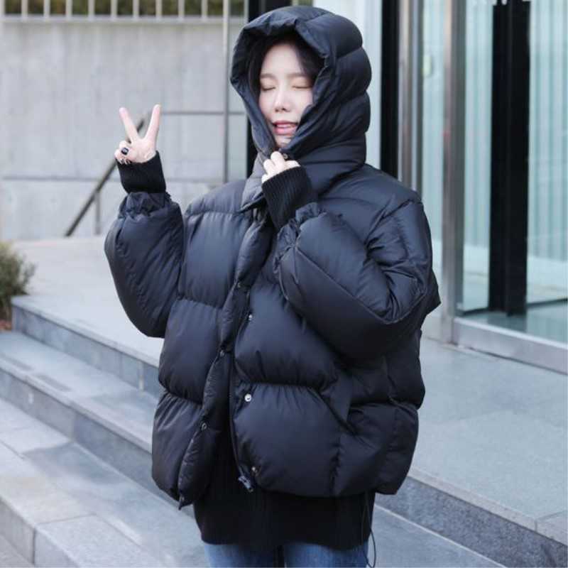 2017 New Fashion Women Winter Hooded Coat Female Outerwear Parkas Ladies Warm Short Jacket Loose Womens Parkas