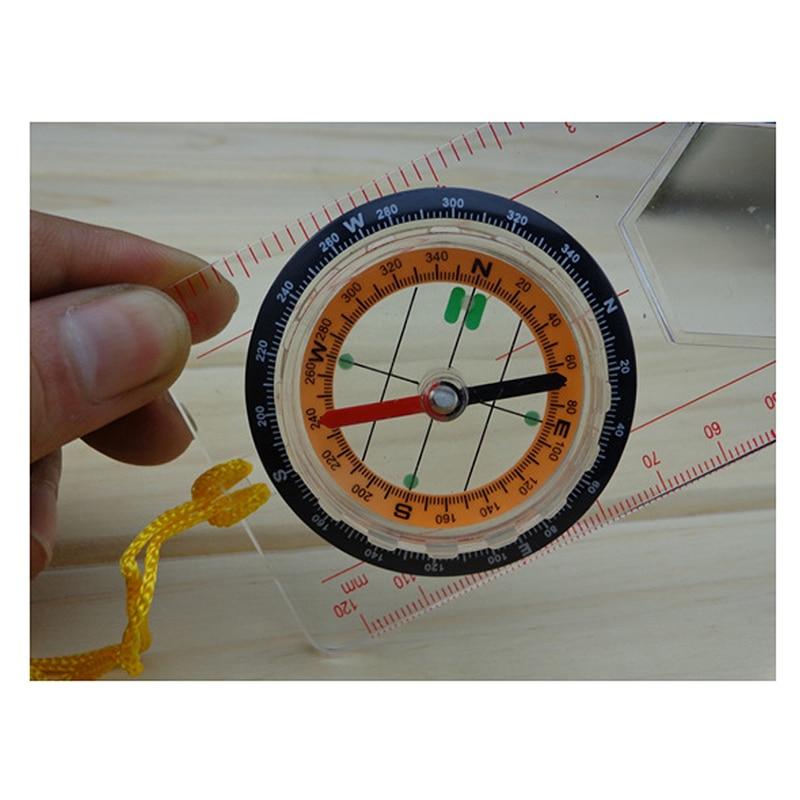 OC-1 Orienteering Baseplate Map Compass Scale Ruler with Lanyard Sadoun Sales International