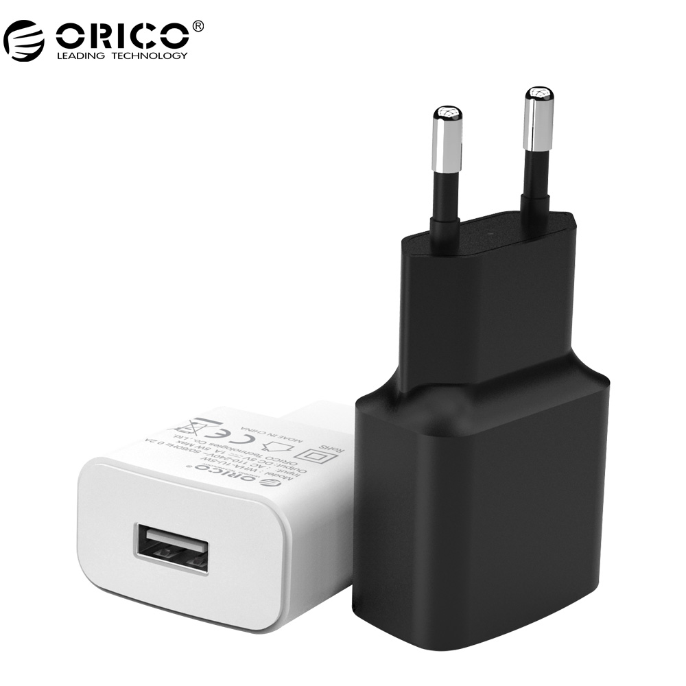 ORICO Mobile Phone Charger 5V1A5W/5V2A10W  USB Travel Charger Portable Wall Adapter EU Plug Black/White