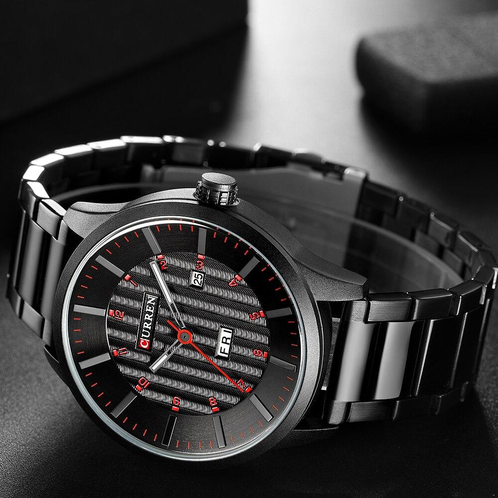 2018 CURREN Gold Quartz Watch Top Brand Luxury Men Watches Fashion Man Wristwatches Stainless Steel Relogio Masculino Saatler 3