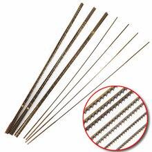 """12 יחידות שוויצרי גלילה כלים ראה להבים לחיתוך מתכת Jeweller להבי מסורי כלי מלאכת יד אורך 130 מ""""מ"""