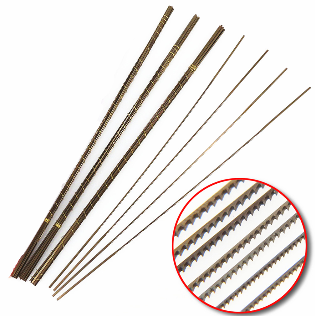 12PCS Swiss Scroll Saw Blades For Metal Cutting Tools Jeweller SawBlades 130mm Length Hand Craft Tools