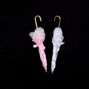 1/12 кукольный домик Миниатюрный Королевский Дамский кружевной декоративный зонтик кукольный домик аксессуары подарок на день рождения для ...