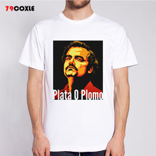 Pablo Escobar hombre casual camiseta hombres camiseta modal camiseta Camisas  moda Camisetas Tees mr6094 f942e0f2a4f