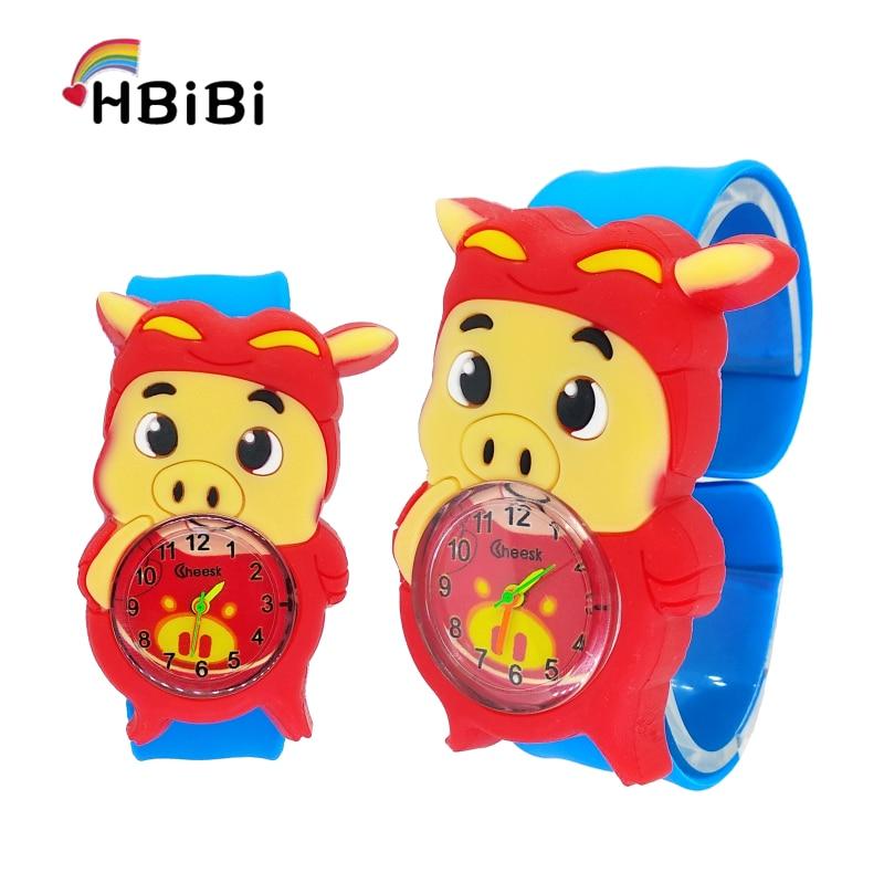 Cartoon Pet Pig Children Watch Cute Chicken Duck Rabbit Baby Toy Clock Kids Watch Girls Boys Gift Student Child Quartz Watches
