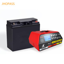 LCD display 12V 24V smart motorcycle /car repair lead acid battery charger for input voltage 220V 6ah-200ah battery lead acid and gel 24v 15a float car charger for ac 220v 230v 240v
