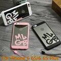 New bonito que bling luxo caso espelho para iphone 6 6 s plus 5.5 Limpar TPU Macio Ultra Slim Capa Para Iphone6 6 S 4.7 polegadas caso + Cordão
