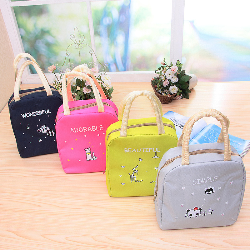 Mrs win Portable Lunch Bag New cute Cooler Bag Thermal Insulation Bags Travel Picnic Food Lunch box bag for Women Girls Kids