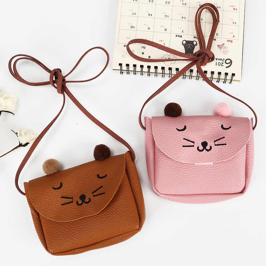 513e0be4a90 Little Girl Mini Cute Cat Ear Shoulder Bag Kids All Match Key Coin Purse  Cartoon Lovely