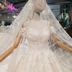 Image 5 - AIJINGYU ラベンダーウェディングドレスインドセクシーなプラスサイズの高級ボール韓国ホワイトブライダルウェディングドレス