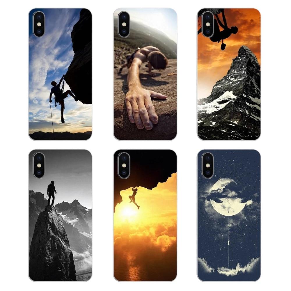 Climbing Sports rock climbing Phone Covers For Samsung Galaxy S2 S3 S4 S5 MINI S6 S7 edge S8 S9 Plus Note 2 3 4 5 8 Coque Fundas