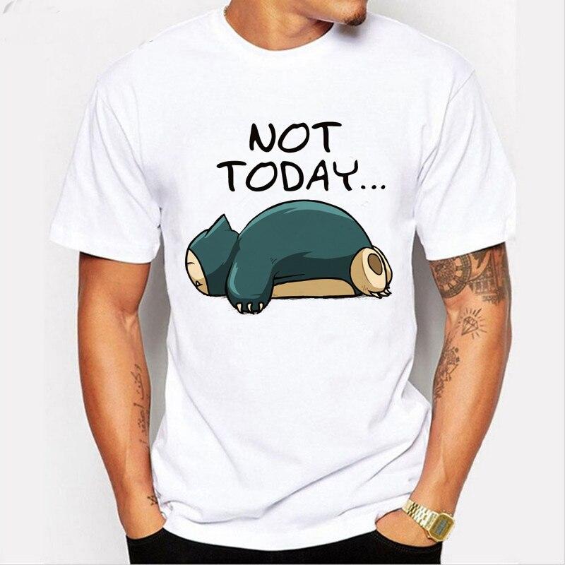 Pokemon Crossover Zelda Poke Ocarina T Shirt Not Today Letter Design T-shirt 2019 Funny Japanese Game Men T-shirt L1-R-34